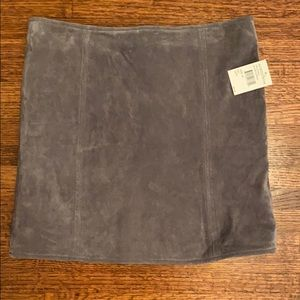 Gray Suede Mini Skirt